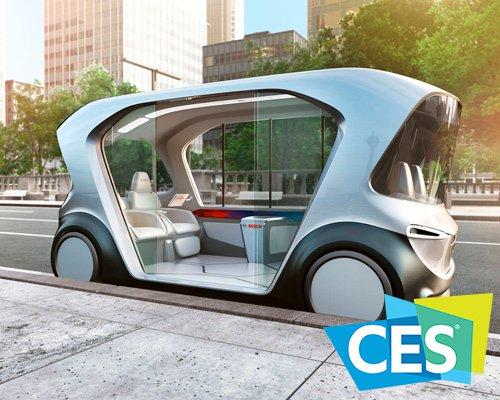 博世全电动自动驾驶汽车亮相CES 2019