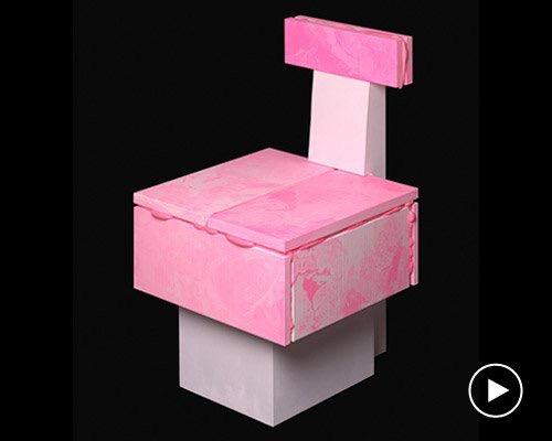 彩色保温发泡材料打造的pop series家具