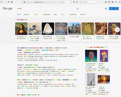 彩色波点字体 从不同视角看语言
