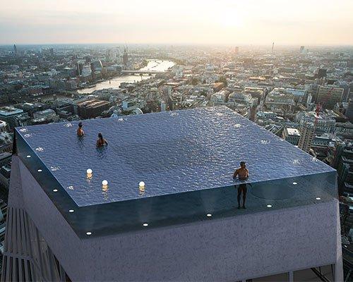 全球首个360度屋顶无边泳池有望现身伦敦