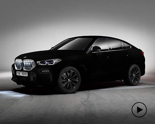 世界上最黑的宝马X6 黑到自动隐身