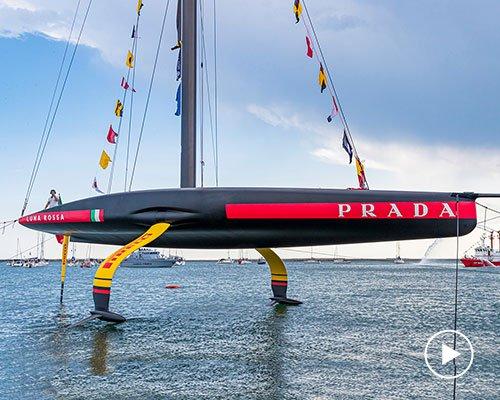 prada推出全新luna rossa AC75水翼单体赛船