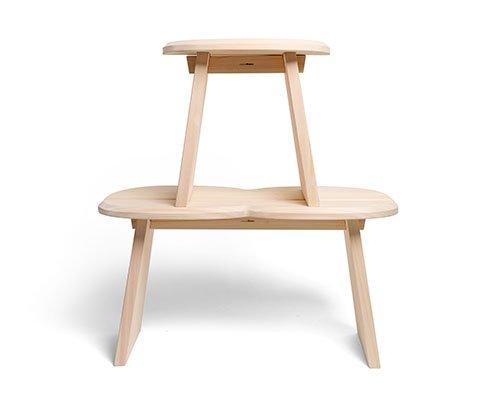 日本扁柏木简约坐凳stool