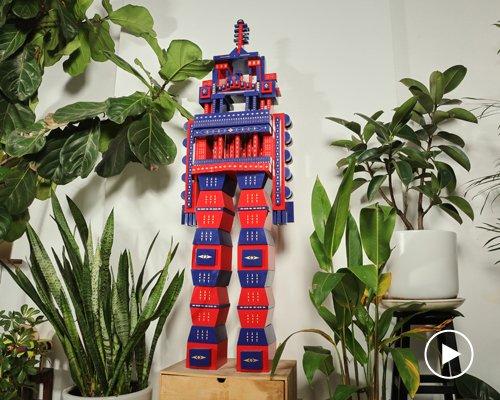 抽象彩绘机器人 致敬西贡传统窗栅设计