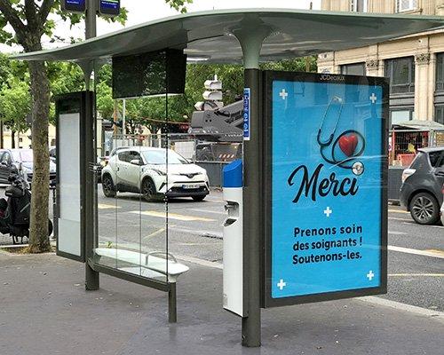 免费洗手液分发机现身巴黎街头