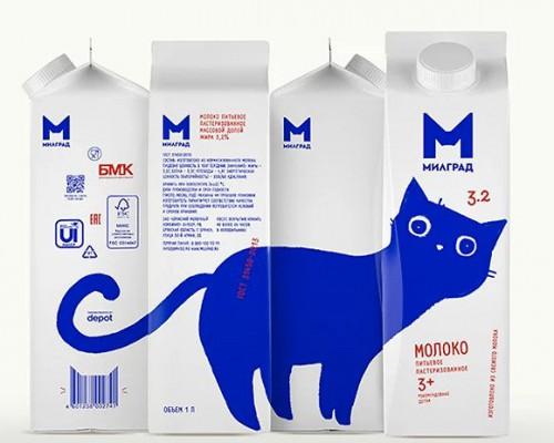 milgrad乳制品新包装超可爱萌猫来袭