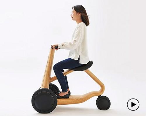 实木三轮电动车 不一样的质感