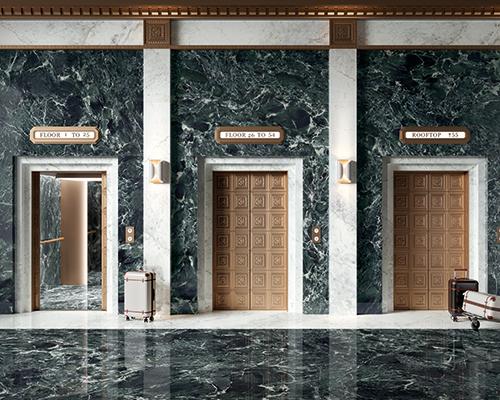 高端大型瓷砖的领先生产商FMG Fabbrica Marmi e Graniti,将新的原始材料效果推向市场