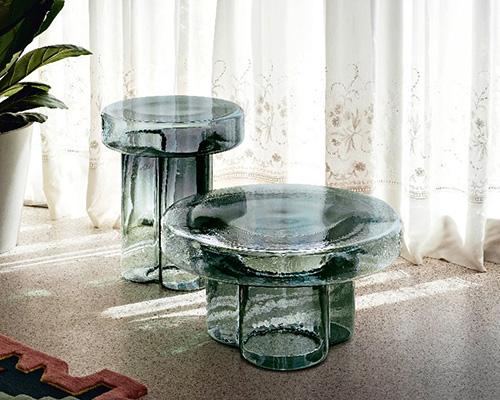 超通透吹制玻璃单体咖啡桌soda