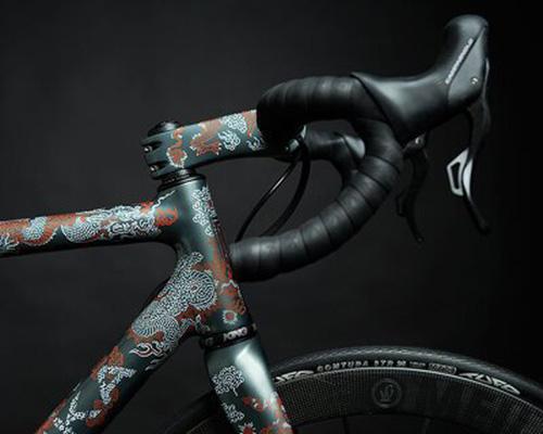 超精致手绘亚洲风花纹自行车scalatoresamurai