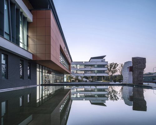 传统文化在校园空间中的转译,苏州高新区实验初级中学锦峰路校区