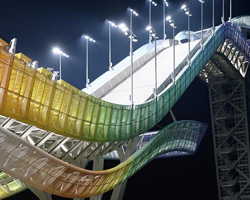 北京2022冬奥场馆:首钢滑雪大跳台中心