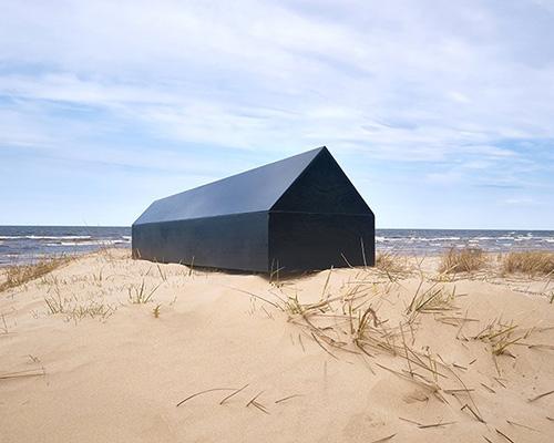 建筑师专用棺材 通体黑色形似住宅