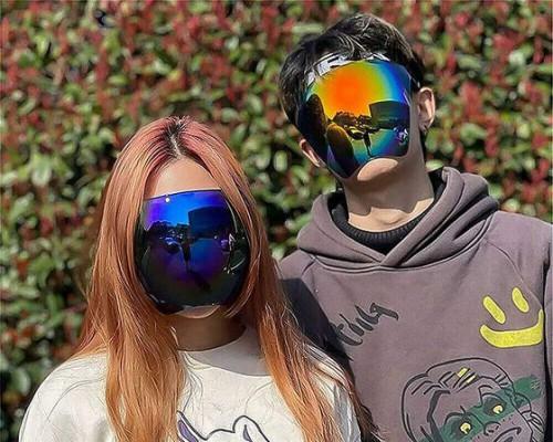一体式偏光遮阳面罩 安全又有型