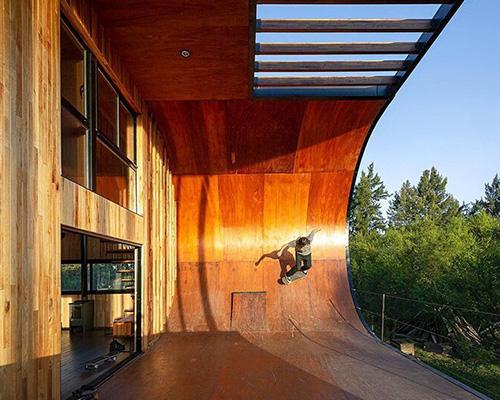 自带滑板坡道的可持续住宅