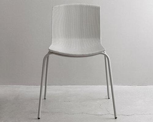 酸奶杯废塑料制成的3D打印座椅rechair